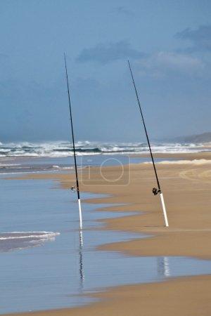 Fishing Rods, Fraser Island, Australia,