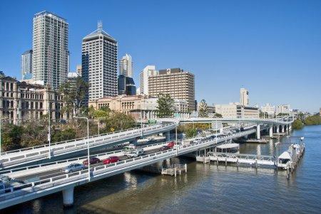 Brisbane Skyline from the Bridge, Austra