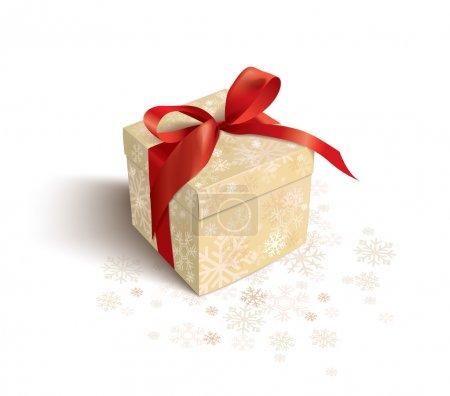 Illustration pour Cadeau de Noël sur fond blanc - image libre de droit