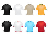 Set of vector t-shirts in different colors