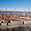 Turin panoramic view; winter clear day; Italy, Eur...