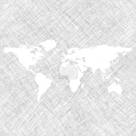 White world map over grunge stripes
