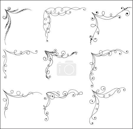 Vector set of bent page corners.