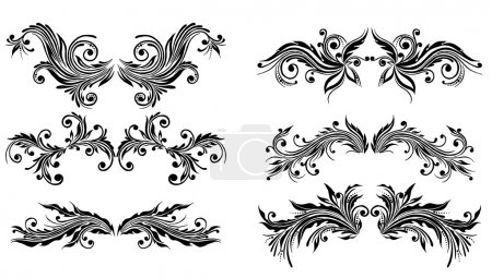 Illustration for Vectorized Scroll Design. Elements can be ungrouped for easy editing. - Royalty Free Image
