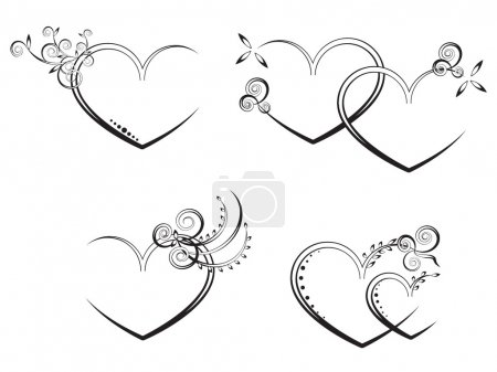 Illustration for Vector flora heart - Royalty Free Image