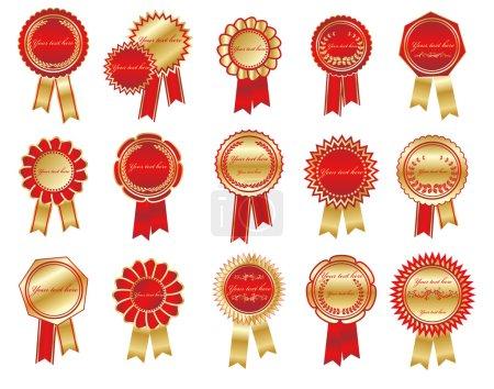 Ilustración de Vector colección de etiquetas de lujo - Imagen libre de derechos