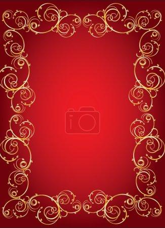Illustration pour Cadre vectoriel en or pour un ornement - image libre de droit