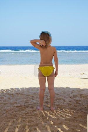 Litle girl on beach