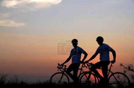 Photo for Adventure Cycling in the nature, india - Royalty Free Image