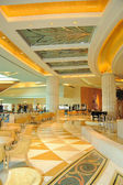 Reception lobby area in luxurious hotel
