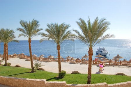 Way to the Red Sea beach