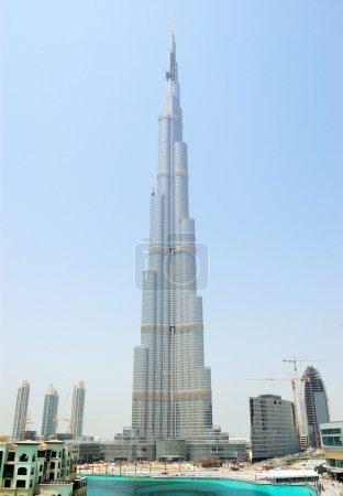 Photo for Construction of Burj Dubai skyscraper, United Arab Emirates - Royalty Free Image