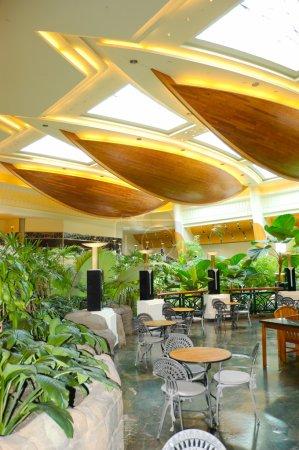 Reception lobby area in luxury hotel