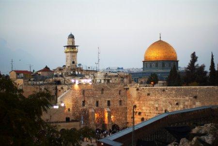 Photo pour Dôme du rocher, la mosquée al aqsa, églises en Terre Sainte de Jérusalem, Israël, - image libre de droit