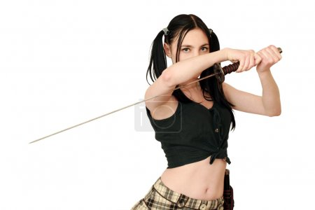 Dangerous woman with sword