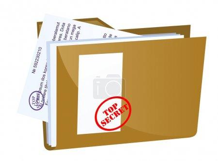 Vector file containing secret documents