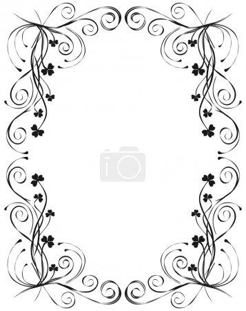Illustration pour Vintage cadre floral Design - image libre de droit