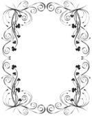 Vintage floral frame for design