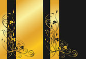 Black and golden floral backgrounds