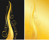 Black and gold ornamental backgrounds