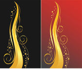 Black and red backgrounds with golden or