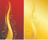 Red and gold ornamental backgrounds