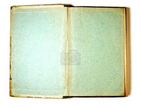 Photo pour Deux pages blanches dans le Livre ancien, sur un fond blanc - image libre de droit