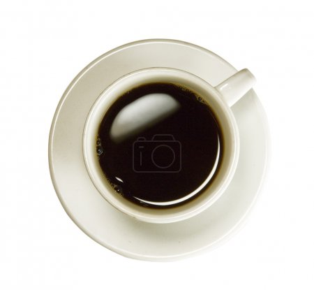 Photo for Coffee cup isolated (seen from above) with clipping path - Royalty Free Image