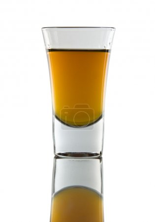 Photo for A shot of whiskey on white background. - Royalty Free Image