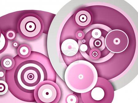 Photo pour Cercles abstraits de différentes nuances de rose et tailles - image libre de droit