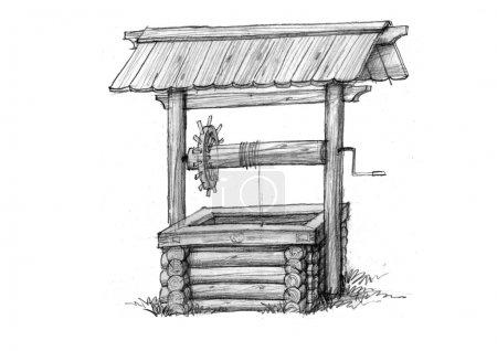Photo pour Un simple croquis de dispositifs anciens, l'a utilisé dans les villages . - image libre de droit