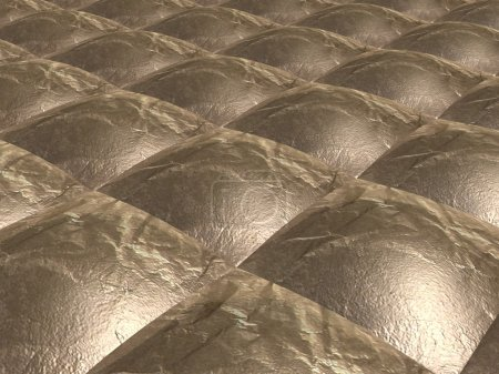 Square metal surface