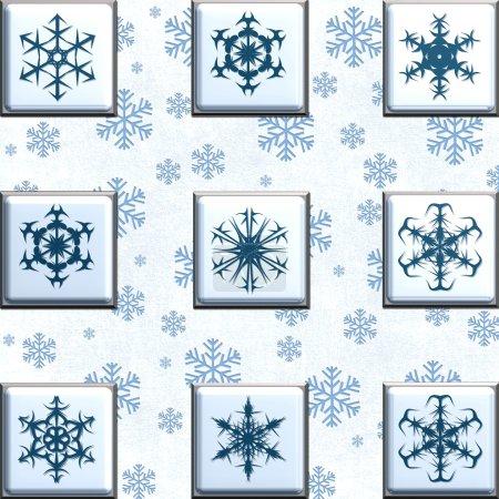 Collage snowflakes