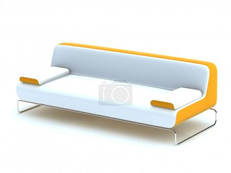 Photo for 3d model of white office sofa - Royalty Free Image