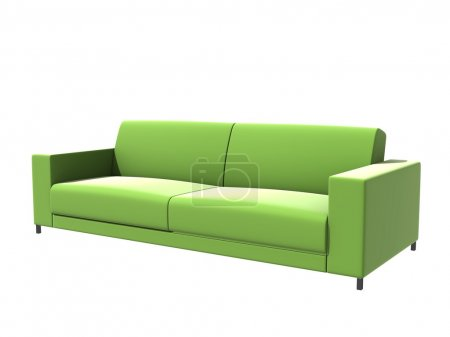 Photo for 3d model of green sofa bed - Royalty Free Image