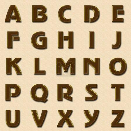 Photo pour Or alphabet majuscule - image libre de droit