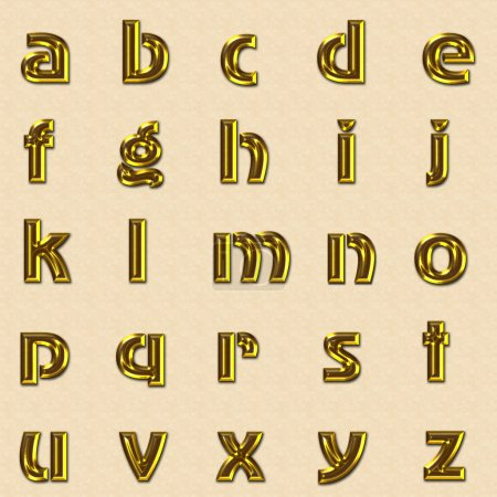 Photo pour Or alphabet majuscules - image libre de droit