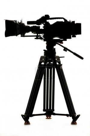 Silhouette of the camera and tripod.
