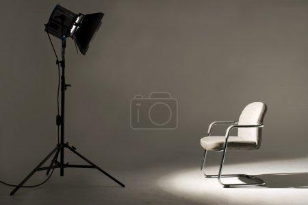 Photo pour Studio lumière sur place pour la scène de film . - image libre de droit