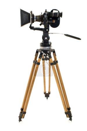 Foto de Profesional la cámara de película de 35 mm sobre un fondo blanco. - Imagen libre de derechos