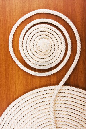 White coiled rope