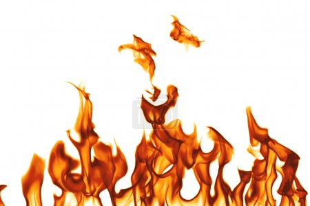 Foto de Fuego aislado sobre fondo blanco - Imagen libre de derechos