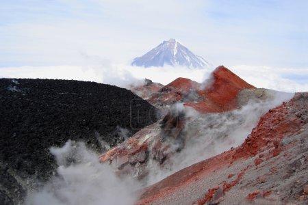 auf dem Gipfel eines Vulkans