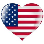 """Постер, картина, фотообои """"Соединенные Штаты в сердце"""""""