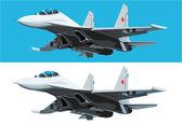 Vector design element air fighter eps8
