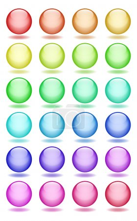 Set of glass balls icons