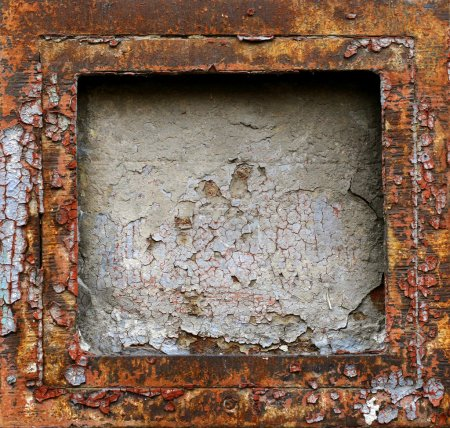 Rusty grunge metal frame background