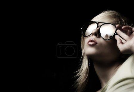 Woman portrait wearing sunglasses