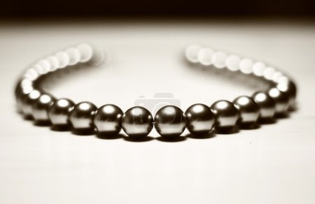 Abstract beads on white background
