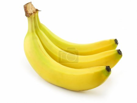 Photo for Bunch of Ripe Banana Isolated on White Background - Royalty Free Image